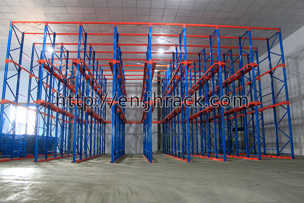 China Warehouse drive in pallet racking for Processing Industrial