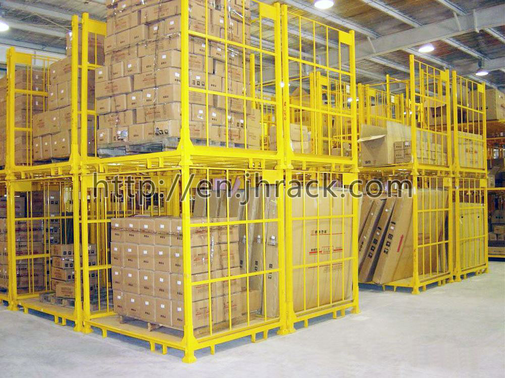 Heavy duty scale warehouse steel fixed storage stacking rack