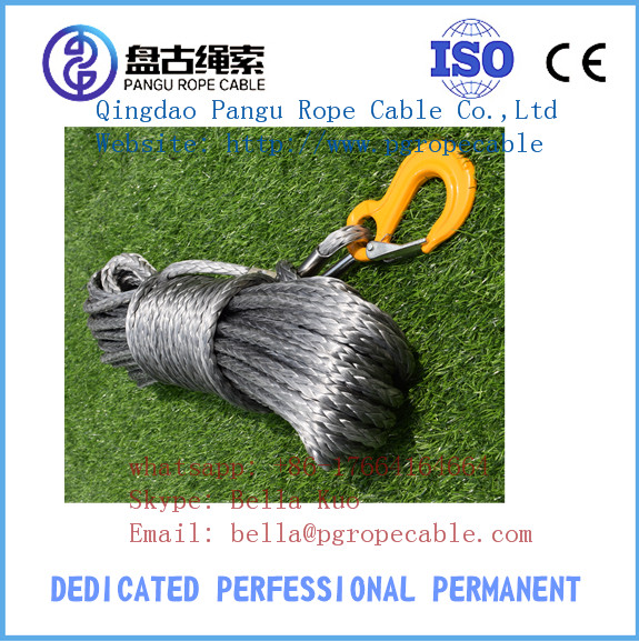 4WD side by side UHWAPE atv synthetic winch rope