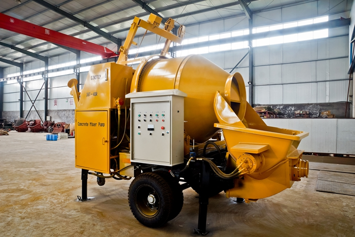 15m³ - 90 m³ Trailer mounted Concrete Pump for sale-taian sinotep machinery co.,ltd