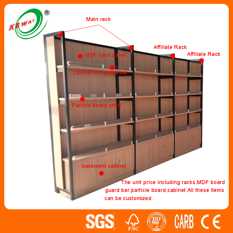 Steel-wood Combination Display Rack