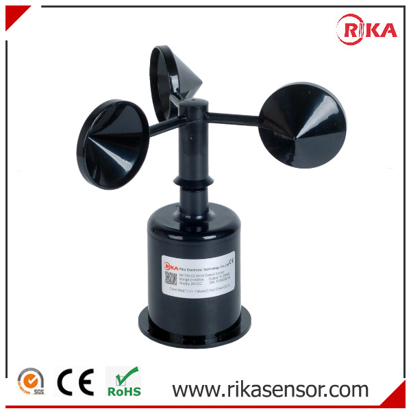 4-20mA, 0-5v Analog Output Cup Wind Speed Anemometer with CE