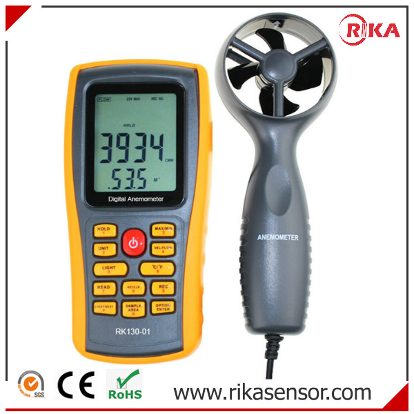 Digital Handheld Rotating Wind Speed rotary cup type Anemometer