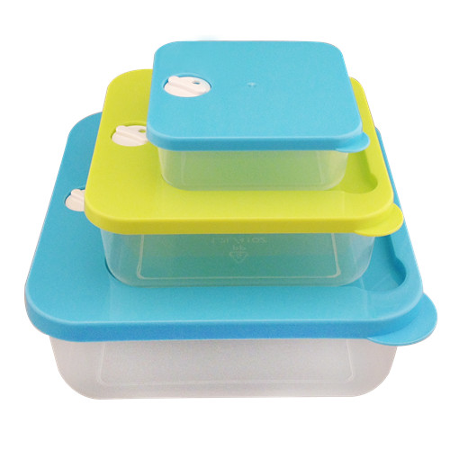 Plastic Microwave Food Container with Steam Vent