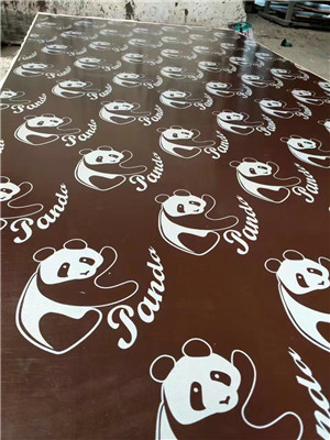 logo printed film faced plywood, poplar core or eucalyptus MEl glue construction use