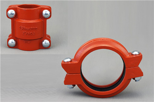 Ductile Iron grooved rigid coupling and HDPE Coupling