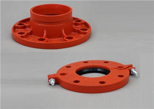 FM&UL approved ductile iron grooved flange