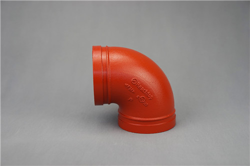 FM&UL approved ductile iron grooved elbow