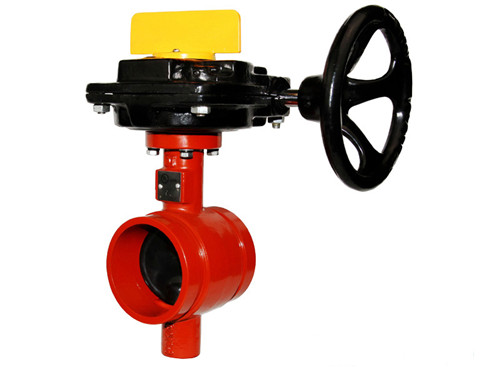 cast iron material butterfly grooved valve China manufacturer