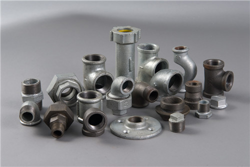 Galvanized malleable iron casting fittings made in china