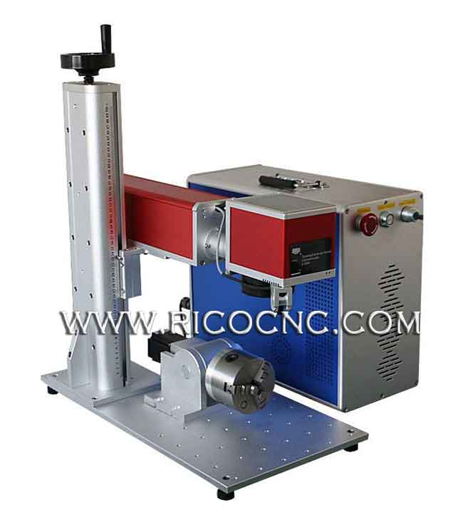 RICOCNC Fiber Laser Metal Marking Machine With Rotary Attachment