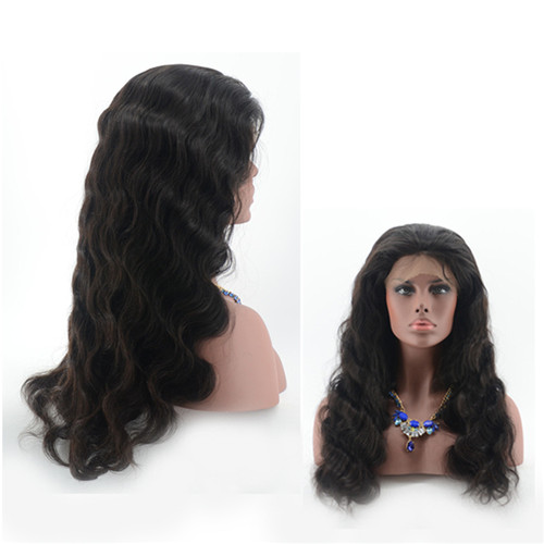 Glueless Natural Wave Brazilian Human Hair Full Lace Wig/wigs With Baby Hair for women