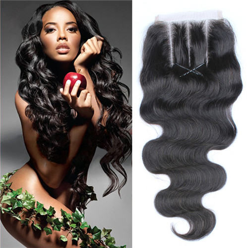 Unprocessed Virgin Human Hair Lace Closure And Frontals Natural Body Wave Style With Baby Hair