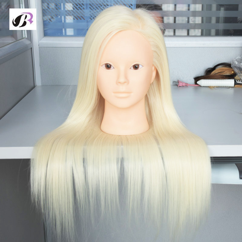 Hot Sale Mannequin Head For Hairdresser Wig Manik Hairdressing Dummy Doll Heads Synthetic Hair Styling Mannequins Training Head