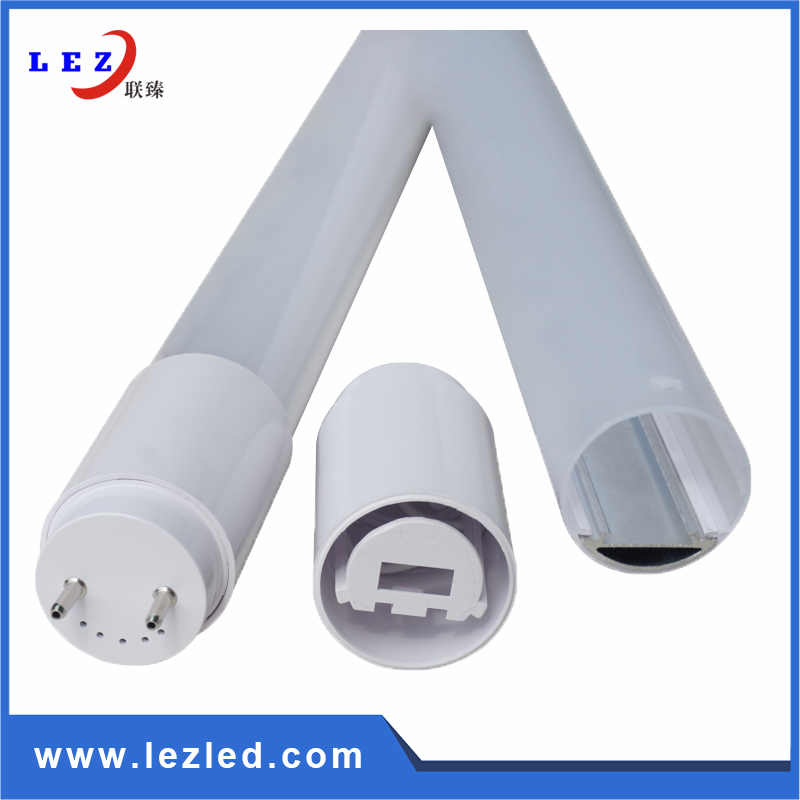 4ft aluminum pc LED T8 tube housing kits tube fixture