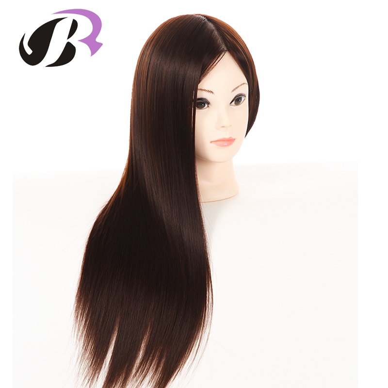 24Hair Mannequin Head Hair Fake Hairdressing Doll Heads Training Manikin with Synthetic Hair Manik Cosmetology Educational sale