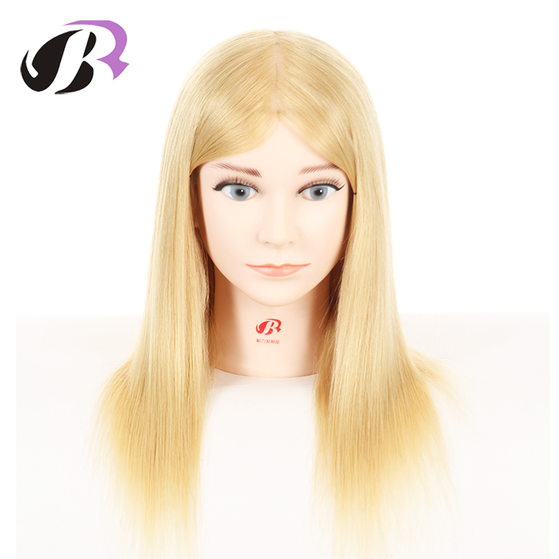 16Golden Mannequin Head For Hairdresser Wig Manik Hairdressing Dummy Doll Heads Human Hair Styling Mannequins Training head