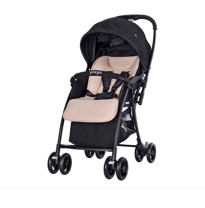 Simple lightweight,detachable seat pad design,reversible with one-hand folding compact baby stroller