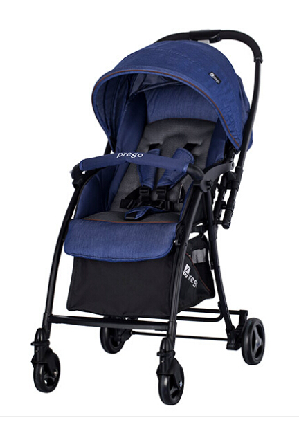 Simple comfortable,high breathability seat,reversible with one-hand folding compact baby stroller