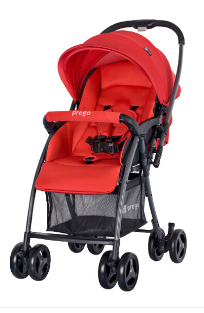Reversible with high breathability seat,all wheels suspension with one-hand folding baby stroller