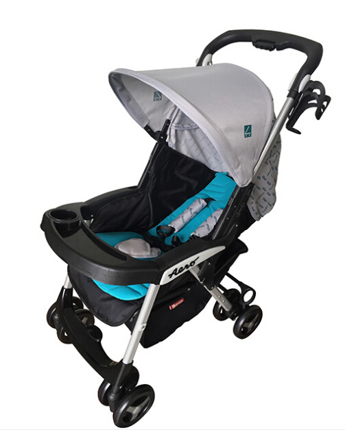 Flexible with detachable liner,Link-brake with one-hand folding baby stroller