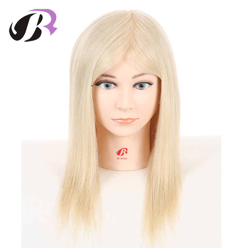 100 Real Hair Mannequin Head Hairdresser Training head With Hair Styling Head For Salon Training Manikin Heads Hairstyling
