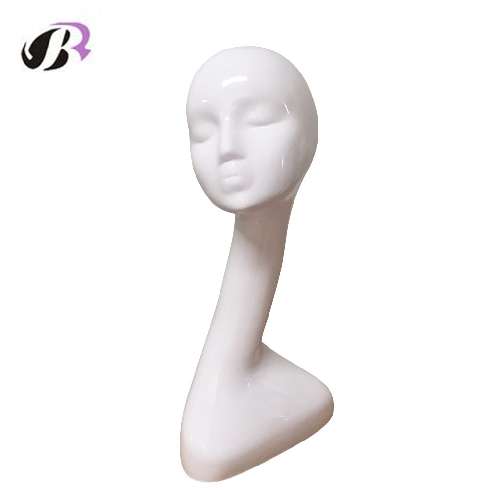 Free Shipping Mannequin Head for Wigs Hat Headset Jewel Stand Holder High Quality Fiberglass Realistic female Manikin Dummy Head