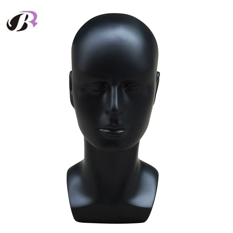 New Arrival Plus Size Black Male Mannequin Training Head For Wig Hat Scarf Display Model And VR Display Wig Stand Mannequin Head