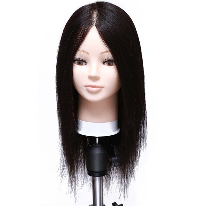 Hotsale 16Professional Styling Mannequin Head with Human Hair Cosmetology Head Dolls for Hairdressers Maquiagem Head with Wigs