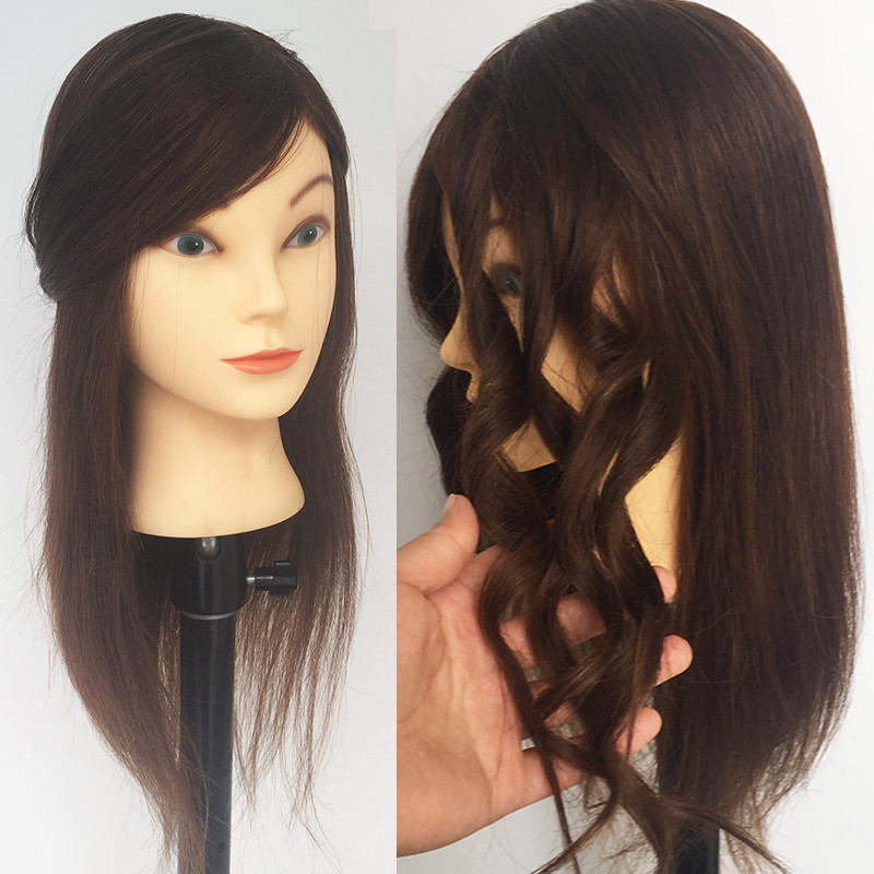 Traning Mannequin Head with human hair Mannequim Head For Hairdresser Hairdressing Dolls Head Training Doll Head For Styling