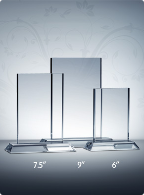 Clear Rectangle Plaque