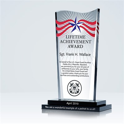 Military Achievement Plaque