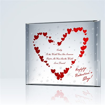 Stars Of Love' Crystal Plaque