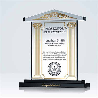 Prosecutor Recognition Plaque