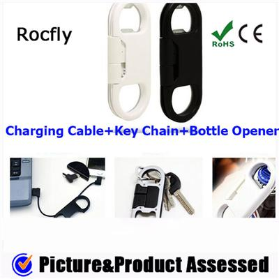 Key Chain Bottle Opener Charging Cables