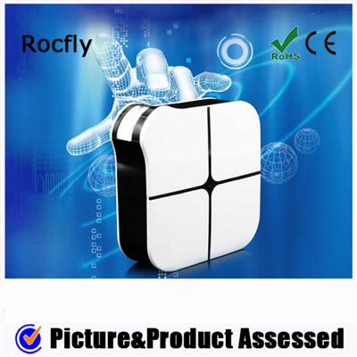 Magic Square Box Shape Wall Charger With Led Light 4 USB Port 5.4A Max Current