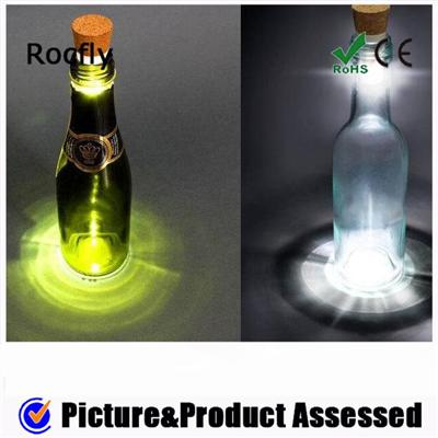 Factory Promotion Rechargeable Light Wine Bottle Shape Light LED Flash With Bottle Stopper Function