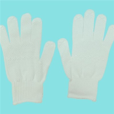 10G 100%cotton PVC Dotted Glove