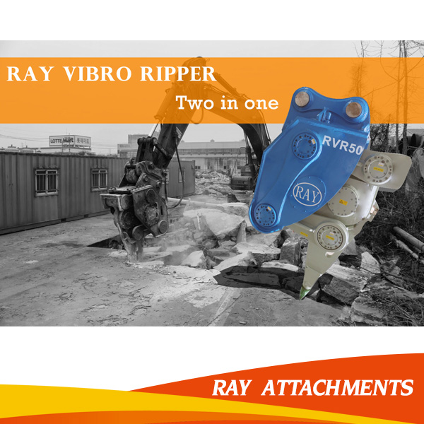 High frequency construction vibro ripper for excavator used