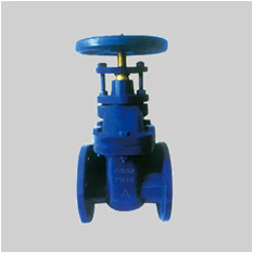 EN 1171 PN10/PN16 F3 cast iron gate valve NRS solid wedge disc flanged ends