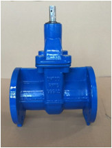 EN 1171 PN10/PN16 F15 cast iron gate valve NRS solid wedge disc flanged ends