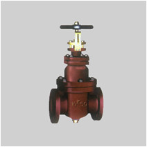 JIS F7363/64 cast iron 5K/10K gate valve NRS solid wedge disc flanged ends