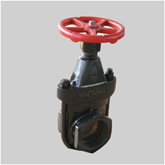 125S clip gate valve OS&Y solid wedge disc inside screw
