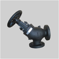 ANSI B16.34 250S ductile iron angle stop check valve flanged ends