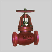 JIS F7353/75 cast iron 5K/10K straightway check globe valve flanged ends