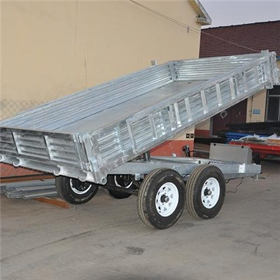 8*5 10*6 Tandem Axle Tipping Galvanized Cage Trailer