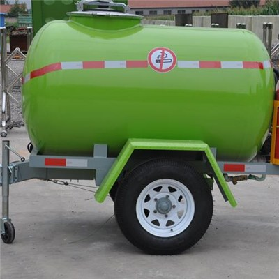 Light Duty Mobile Small Fuel Tank Trailer On Wheels With Pump And Oil Meter