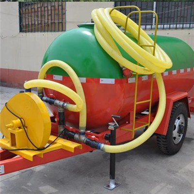 Light Duty Mobile Small Water Plastic Tank Trailer On Wheels With Water Pump And Water Hose