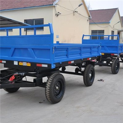 Tandem 2 Axle 4 Or 8 Wheels Tractor Tipping Trailers