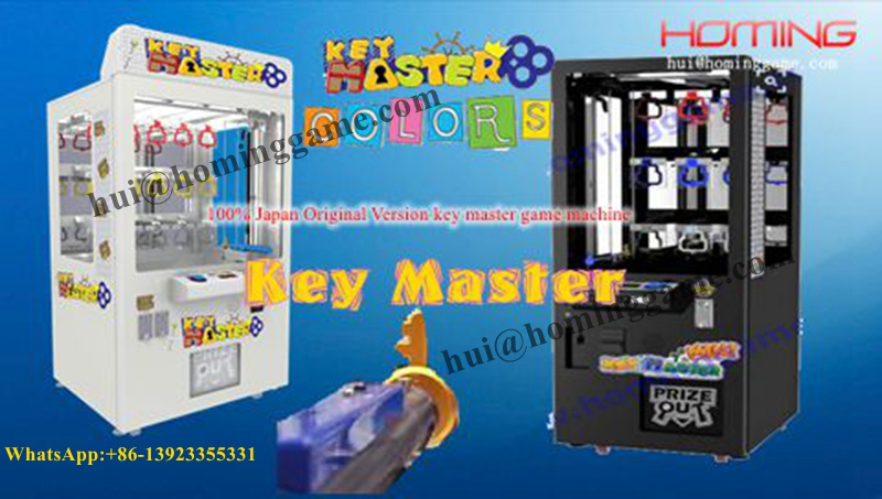 Most popular Coin Operated Prize Vending Golden Key Master Game Machine/Toy Vending Machine(hui@hominggame.com)